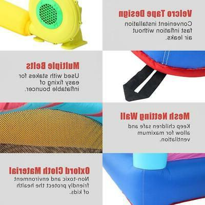 Inflatable Slide with Blower Carrying