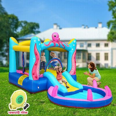 inflatable bounce castle water slide pool bouncy
