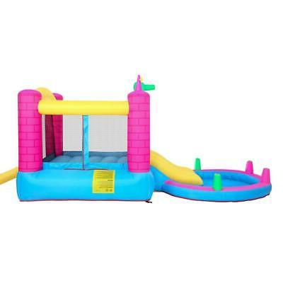 Inflatable Bounce House Play Castle Water Pool Air Blower