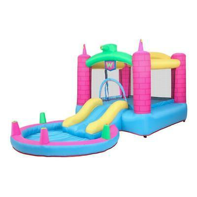 Inflatable Bounce House 2 Play Castle Slide Pool Air Blower