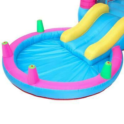 Inflatable House 2 Play Castle Slide Pool Air Blower