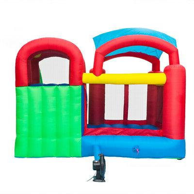Inflatable Bounce Jumper Bouncer W/ Water Slide Blower