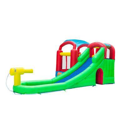 Inflatable Jumper W/ Water Slide Blower