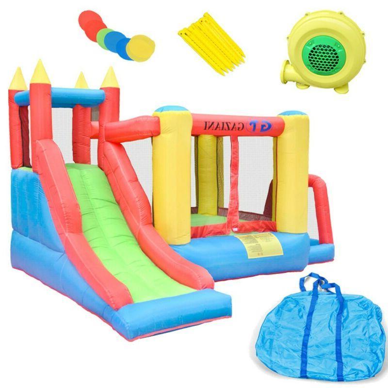 inflatable bounce house castle kids jumper slide