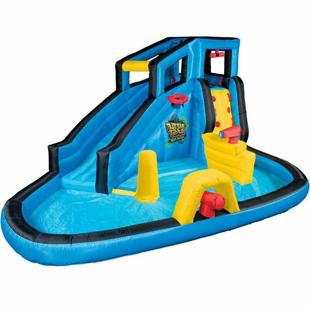 Inflatable w/ Slide Pad Pool and Blower Included