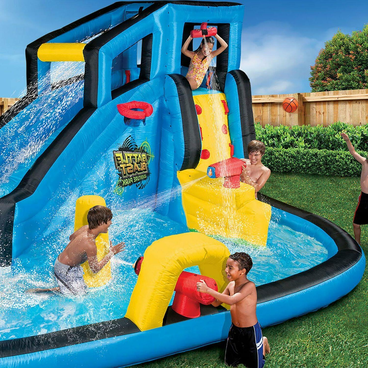 inflatable bounce house combo w water slide