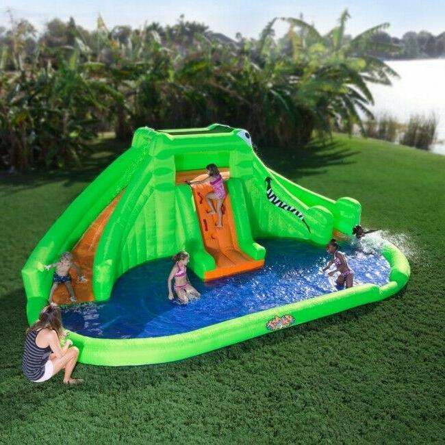 inflatable bounce house crocodile isle water park