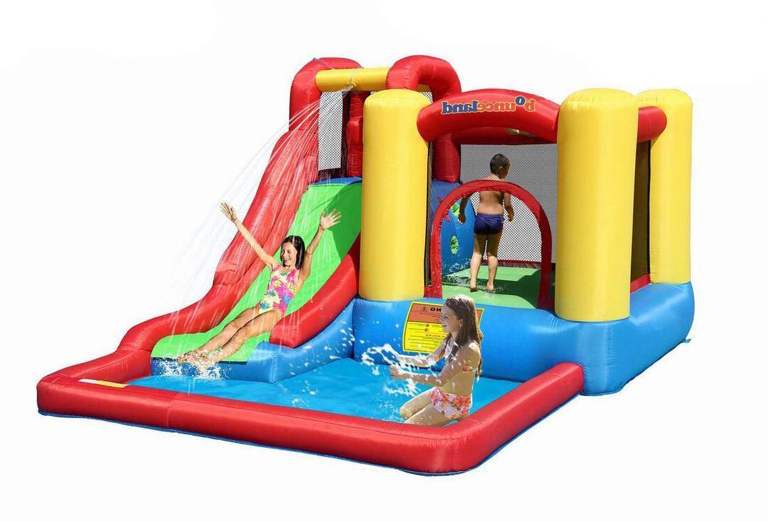 Bounceland House Jump Splash Water