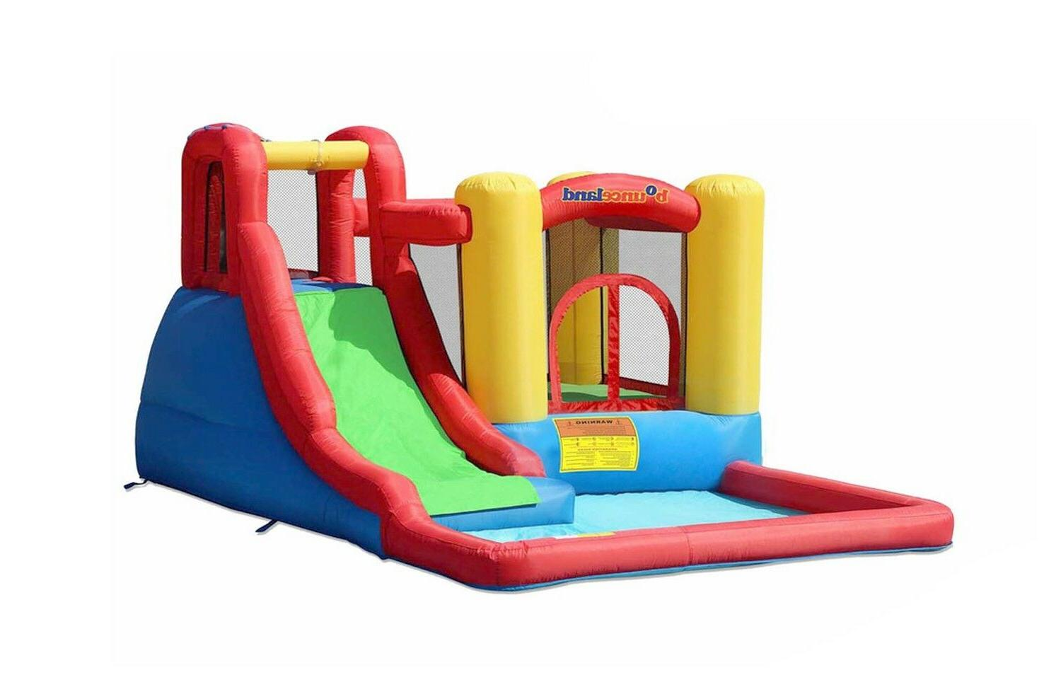 inflatable bounce house jump and splash adventure