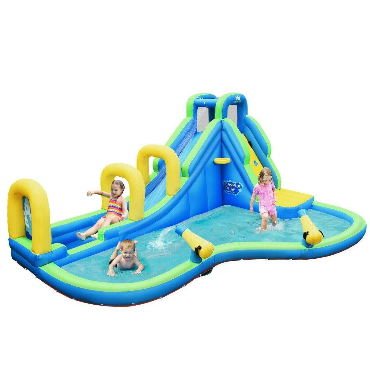 Inflatable Bounce House Jump Splash Adventure Water Slide Bo
