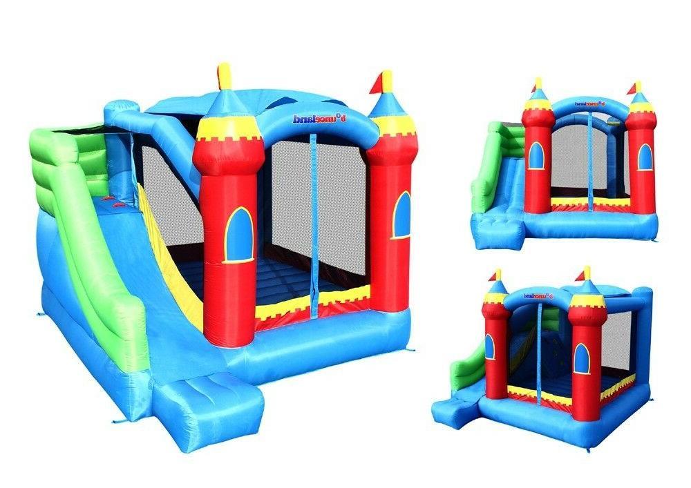 Bounceland Inflatable Royal Palace Bouncer Slide