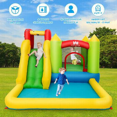 Inflatable Bounce House Slide Jump Bouncer Wall and Splash Pool