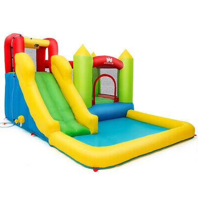 Inflatable Bounce Slide Jump w/Climbing Wall