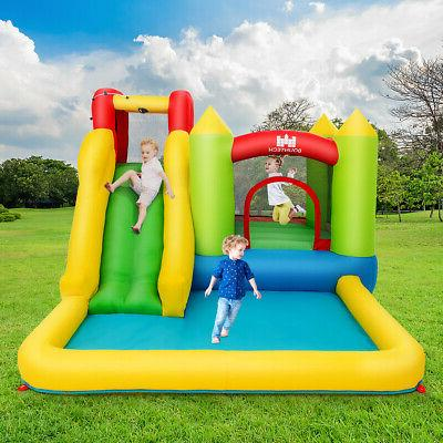Inflatable Slide Jump Bouncer Wall