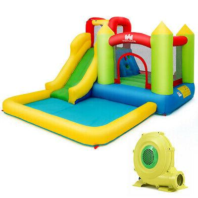 Baby Inflatable Bounce House Water Slide Climb Bouncer Pool Blower