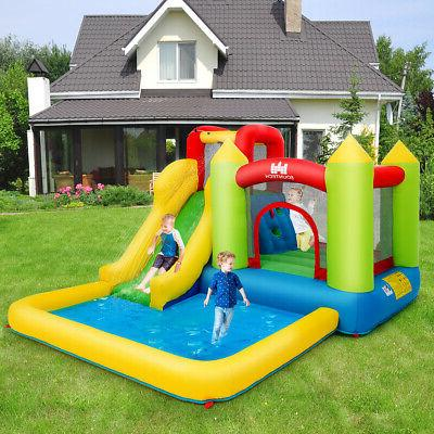 Baby Play House Slide Climb Bouncer Blower