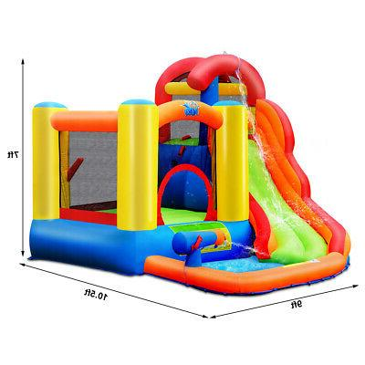 Inflatable House Water Climbing Splash