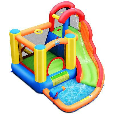 inflatable bounce house children water slide climbing