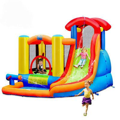 Inflatable House Water Slide Climbing Wall Splash Water