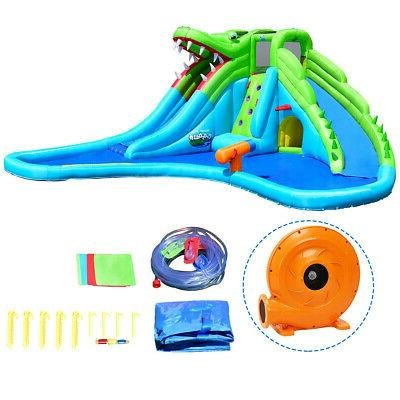 Inflatable Crocodile Water Climbing Wall Bounce House Outdoor NEW