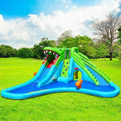 Inflatable Crocodile Water Climbing Wall Outdoor Fun NEW