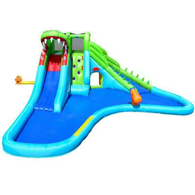 Inflatable Crocodile Slide Climbing Outdoor Fun