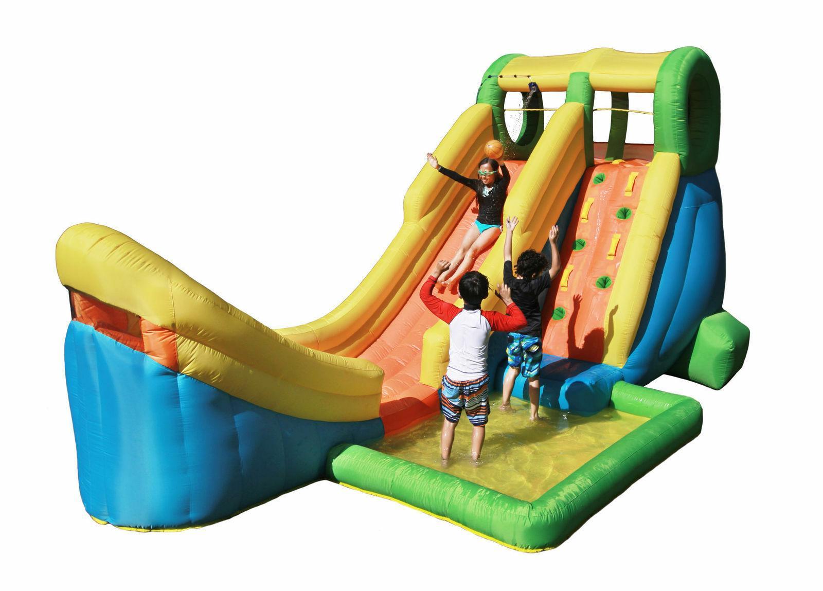inflatable half pipe water slide