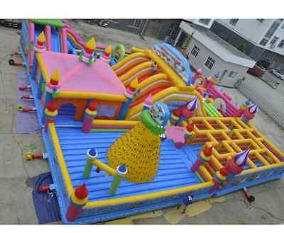 99x99x30 Commercial Inflatable Wall Tower Obstacle Course
