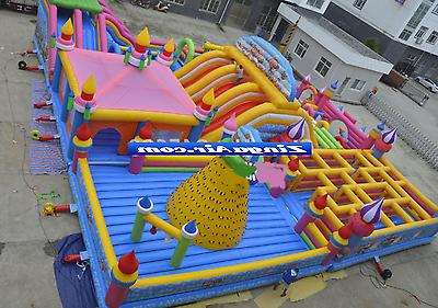 99x99x30 Commercial Inflatable Wall Slide Obstacle