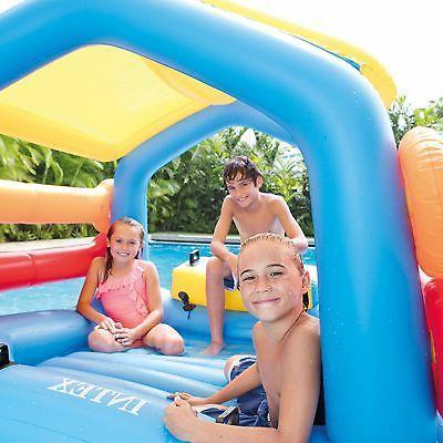 Intex Island Pool Float Cabin Hut Slide Tube Center