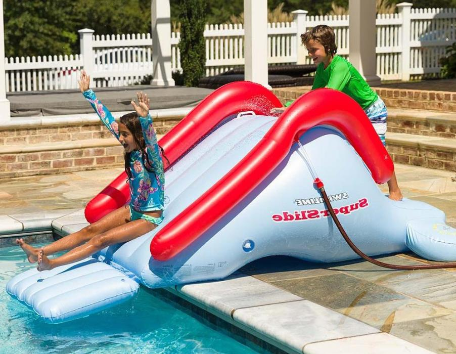inflatable kids water slide toy for swimming