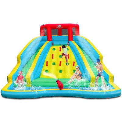inflatable mighty water slide park bouncy splash