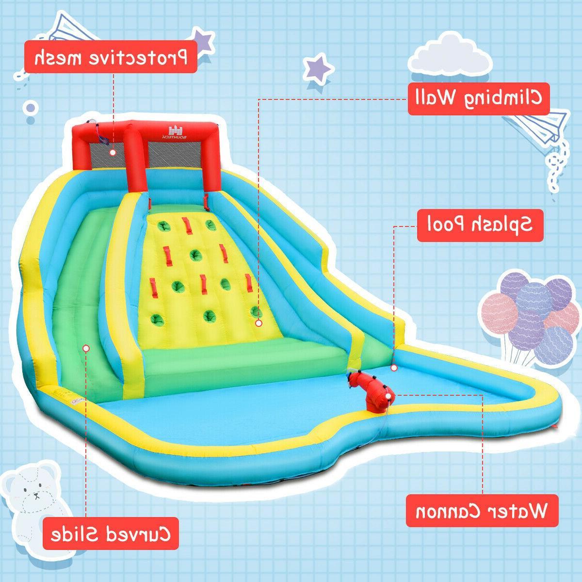 Inflatable Park Bouncy Splash Climbing Wall Playset