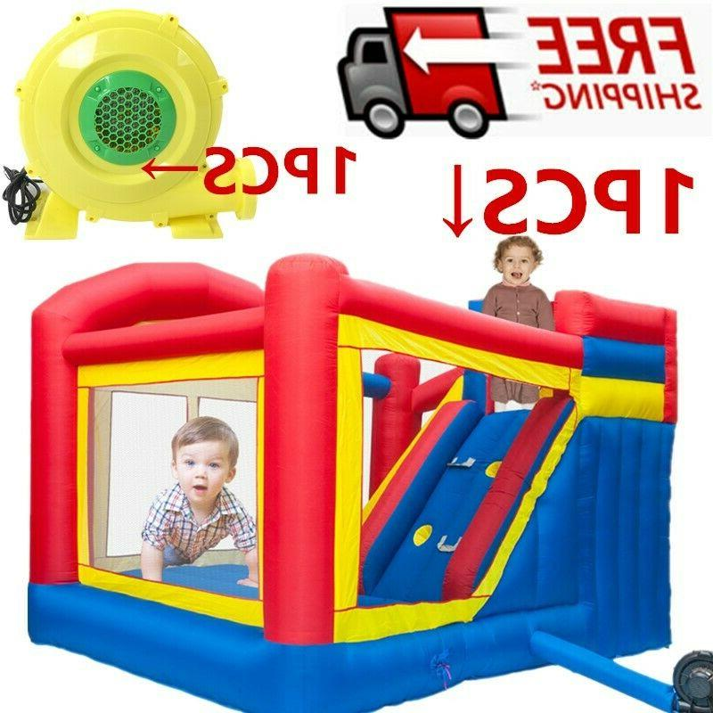 inflatable moonwalk jungle kids water slide house