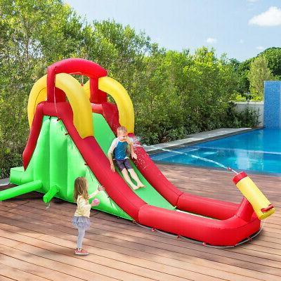 Inflatable Moonwalk Water Slide Bounce House Bouncer Kids Ju