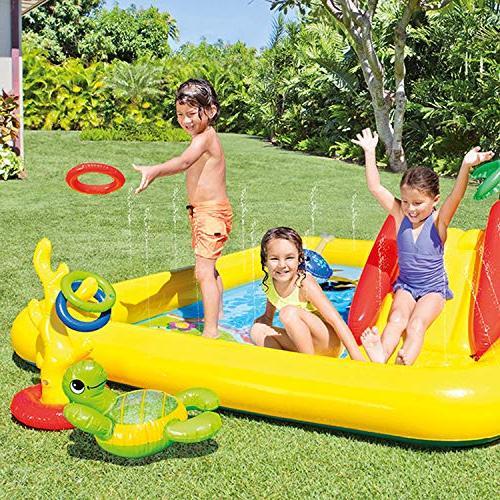 Intex Water Play Ring Slide   57453EPIntex Inflatable Ocean Center Kids Pool