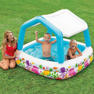 Intex Inflatable Scene Sun Shade Kids Pool With