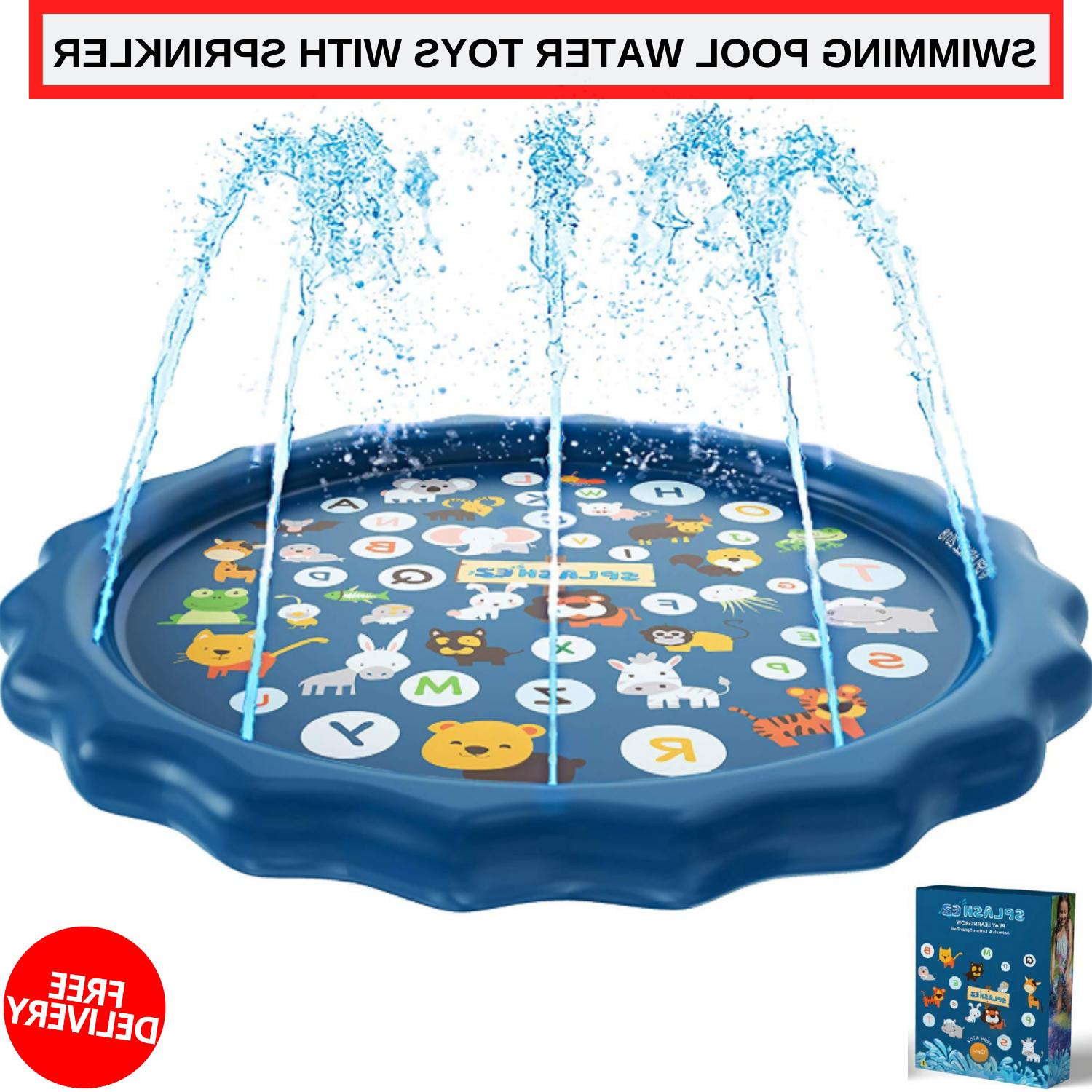 Inflatable Outdoor Swimming Pool Water Toys With Sprinkler F