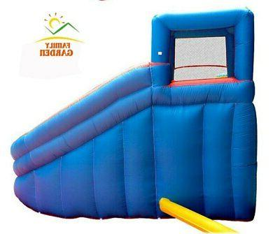 Inflatable With Swimming Pool Gun Slide