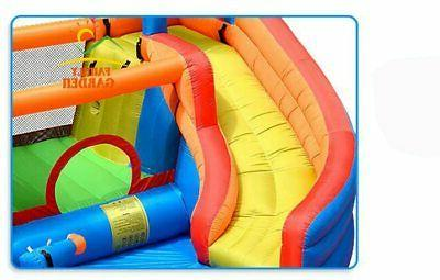 Inflatable Outdoor Slide With Swimming Pool Slide Castle