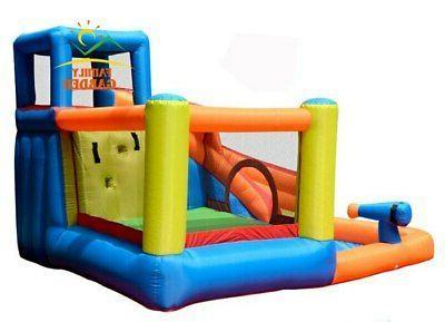 Inflatable Outdoor Slide With Swimming Gun Slide Castle Kids