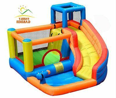 inflatable outdoor water slide with swimming pool