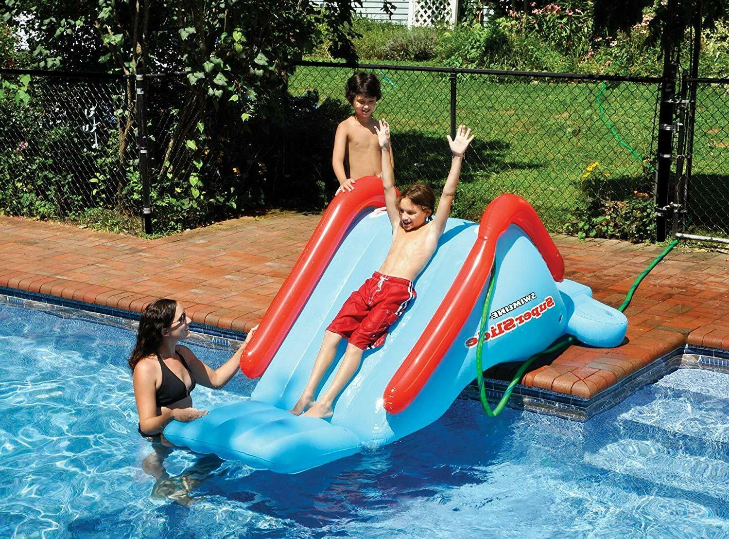 inflatable play center swimming pool water slide