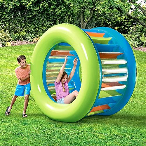 Inflatable Float. Cool Blow Up Original Roller Wheel Lounger Pool Toy. Is For Adults To On Lake, Swimming Pool Park.