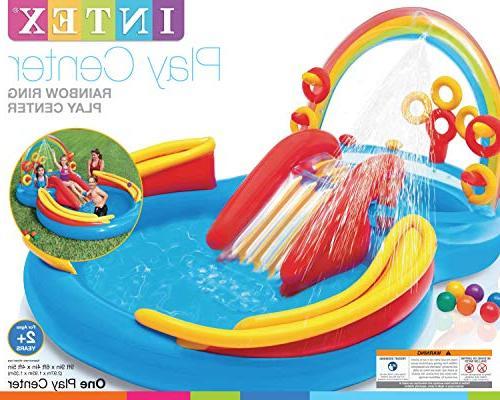 Intex Pool Play Rainbow Slide   57453EPIntex Ocean Center Backyard Pool