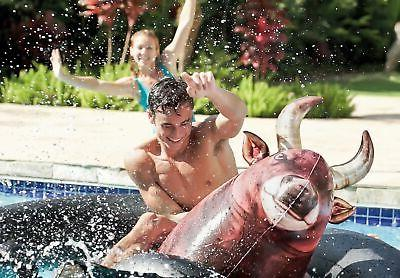 Intex Inflatable Pool Slide, Red & Inflatabull Bull-Riding Float