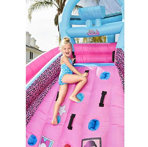 L.O.L. Inflatable Race Water Slide with Blower