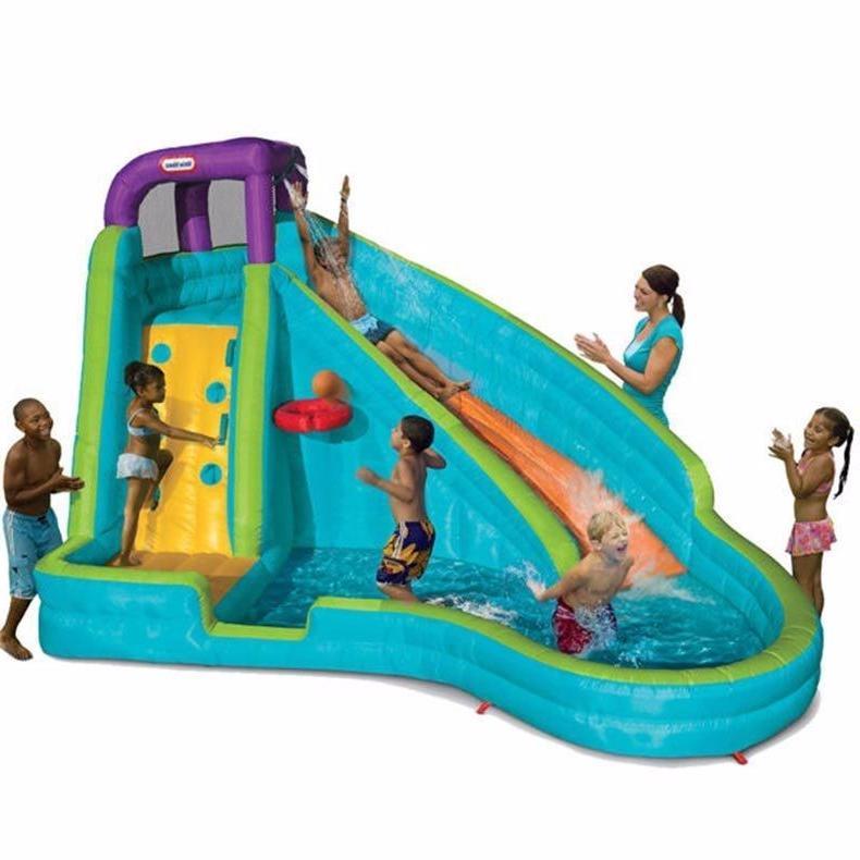 inflatable slam n curve water slide