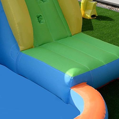 Costzon Inflatable Slide Bouncer, Water Pool Slide Castle House