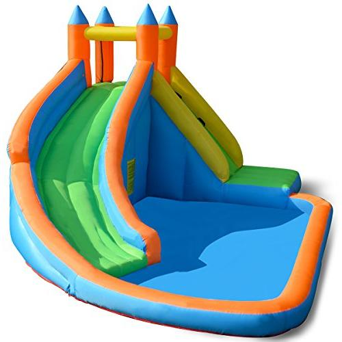 Costzon Slide Bouncer, Water Pool Climber Castle Bounce House